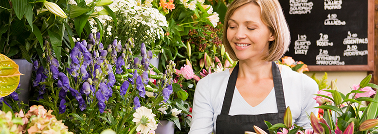 Shopkeepers Insurance - Woman working in a florist