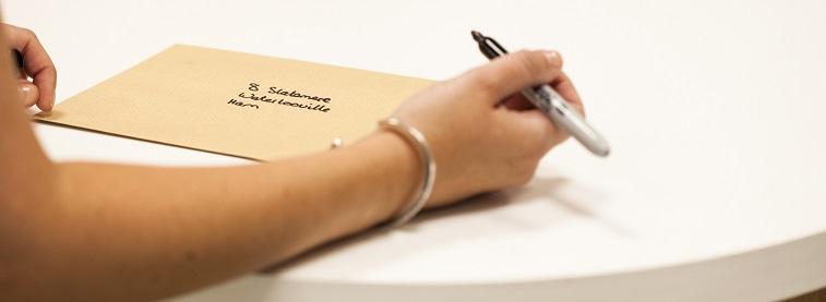 Writing address on envelope international