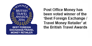 Post Office Money has been voted the winner of the 'Best Foreign Exchange / Travel Money Retailer' at the British Travel Awards