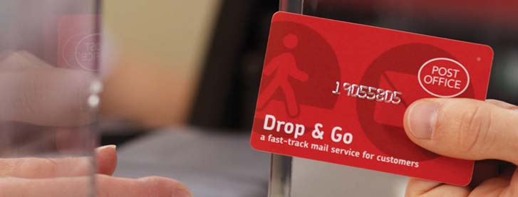 Post Office Drop and Go card