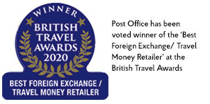 British Travel Awards gold winner for Best Foreign Currency Exchange