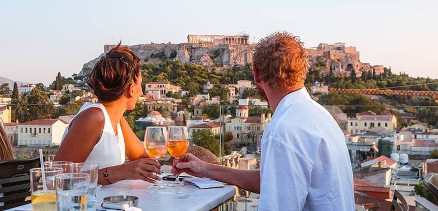 Dining outdoors in Athens