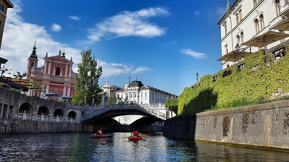 Ljubljana river and bridge