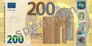 New €200 banknote button image