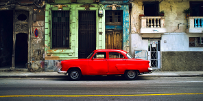 Classic Red Car Havana