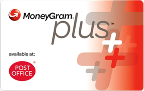Post Office MoneyGram plus card