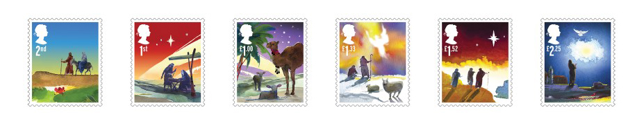 Christmas stamps 2015 post office for Post office design your own stamps