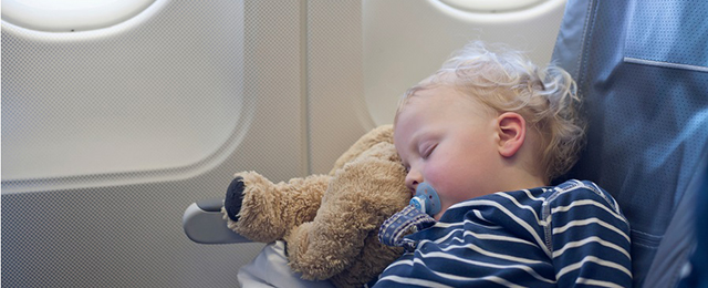 Cabin crew will help secure your baby whether they have their own seat or are sat on your lap.