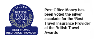 Post Office Money has been voted the silver accolade for the 'Best Travel Insurance Provider' at the British Travel Awards