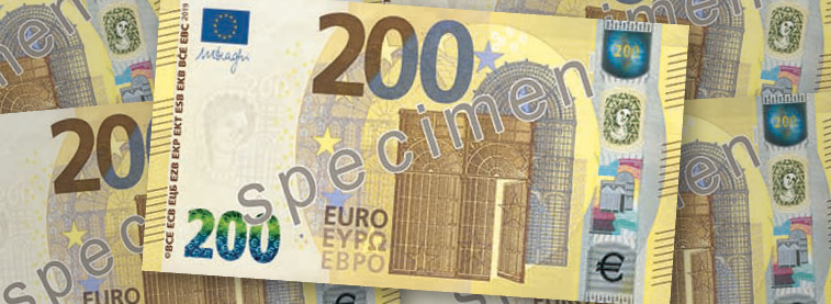 €200 note collage