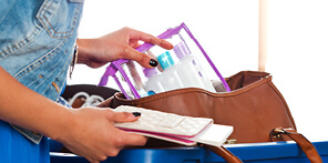 When flying with hold baggage liquids are limited to 100ml bottles up to 1 litre in total