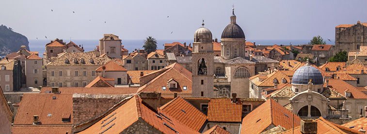 View of city rooftops in Croatia