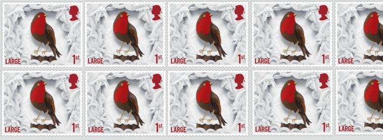 UK 1st class robin Christmas stamp 2016