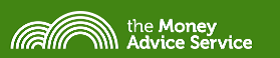 The Money Advice Service logo (white rainbow arches on green background)