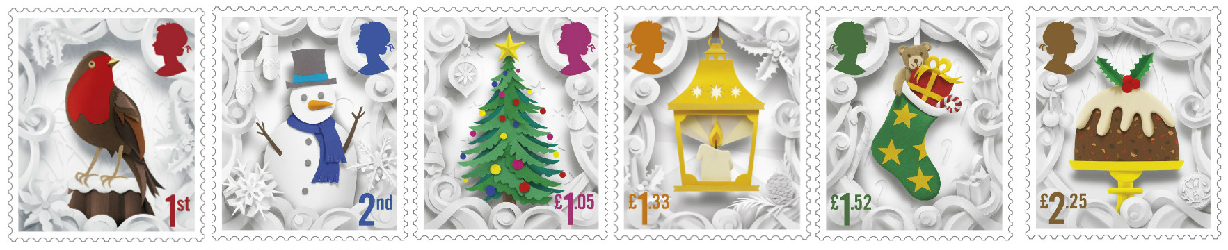 UK stamps Christmas 2016