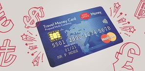 Post Office pre-paid Travel Money Card