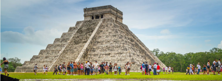Mexican Peso header - Chichen Itza