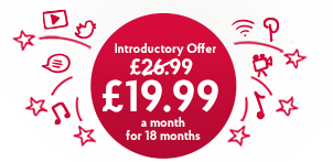 Unlimited Broadband just £19.99 a month