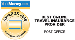 YourMoney Award 2019 - Best Online Travel Insure Provider - Post Office