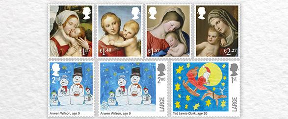 UK stamps Christmas 2016