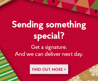 Send something special, next day with signature - Find out more
