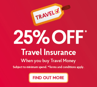 25% OFF Travel Insurance